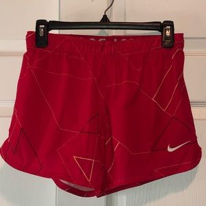Small Red/Pink Nike Dri fit Shorts